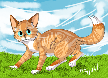 AT: Warm grass by wolf-girl111