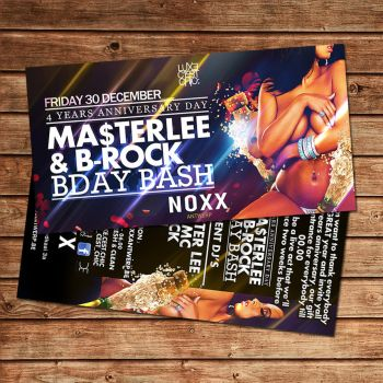 4 years party flyer noxx antwerp by Adriano09