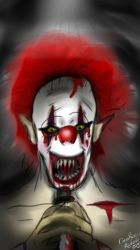 Scary clown by Ilovekidd23