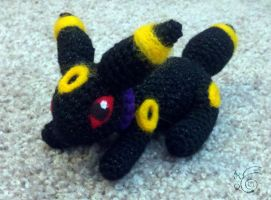 Miniature Crocheted Umbreon by TheHarley