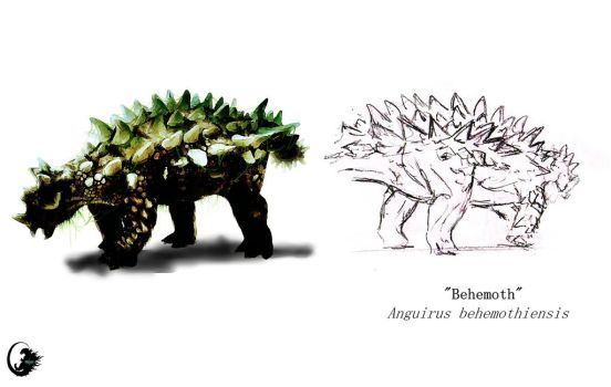 Anguirus by Mirroraptor