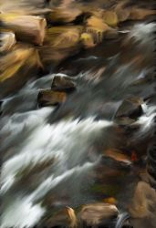 River through the stones by lmtcloud