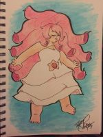 [FANART] Rose Quartz by arnethyst