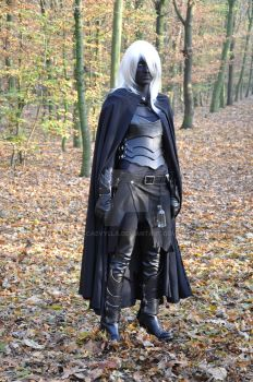 Drow alone in the forest - Drow OC by Scaevylla