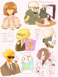 Mystic Messenger x Undertale by Katrona
