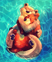 Otterly love by Hukkahurja