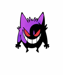 Gengar (ANIMATED) by Shenaniganza