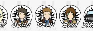SPN Stickers: The Winchesters by kaztielkrafts