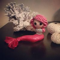 Mermaid in Pink  by lilipolyclay