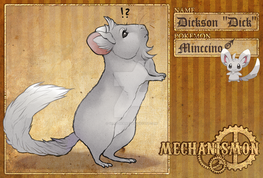 Mechanismon: Dickson the Minccino by Split-Heart