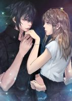 Final Fantasy: Noctis and Stella by 017m