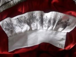 Blackwork Cuffs by VickitoriaEmbroidery