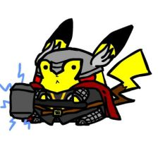 Pikachu as Thor by Ohforcryingoutloud