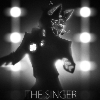 Silhouette scribble - The Singer by ScribbleNetty