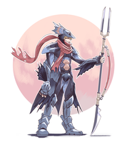 FF4 - Kain by Scribblehatch