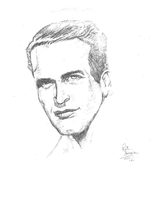 Paul Newman by CaptainRedblood