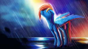 Rainbow Rain + Speedpaint by Camyllea