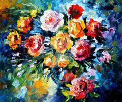 Magic Flowers by Leonid Afremov by Leonidafremov
