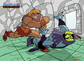 He-man vs Skeletor by Granamir30