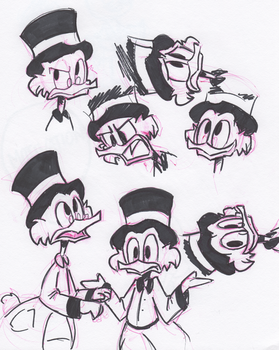 Scrooge Faces by little-ampharos