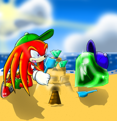 Knuckles and emerald by Faezza