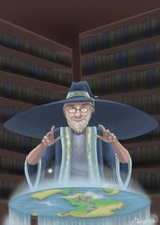 School Project: Terry Pratchett Caricature by Wingd1