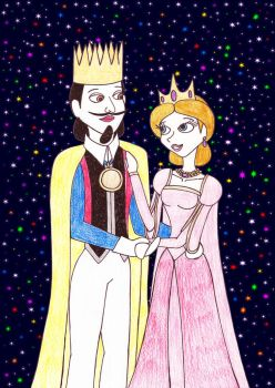 The King Charles V and Queen Aria by Astrogirl500