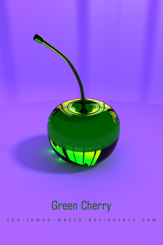 Green Cherry iPhone Wallpaper by THE-LEMON-WATCH