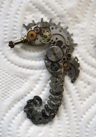 Steampunk Robot Seahorse by lollollol2