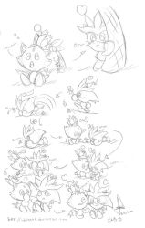 Sketch mini comic SilverxBlaze by idolnya