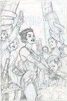CATWOMAN 29 Cover Pencils by TerryDodson