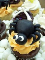 Spider cupcake by see-through-silence