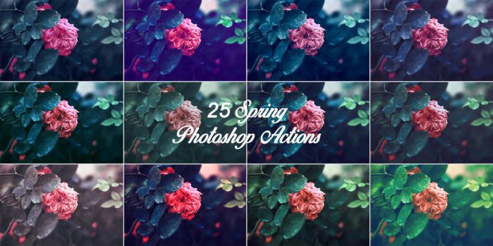25 Spring Photoshop Actions by ViktorGjokaj