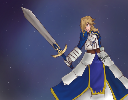 [REQUEST] Rosalina fused with Saber by ArtisInsanity