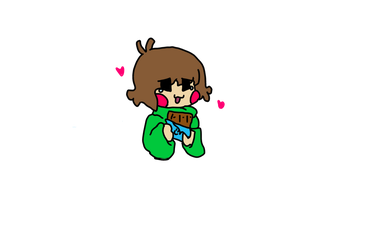 Chara loves Choco by CandyCrush132