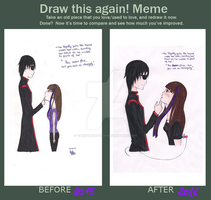 Before and After Meme - You Seem Fine, But You... by VanePyroRocker