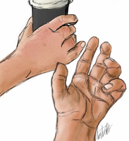 Day 11 - Hands Study by bookwormy606