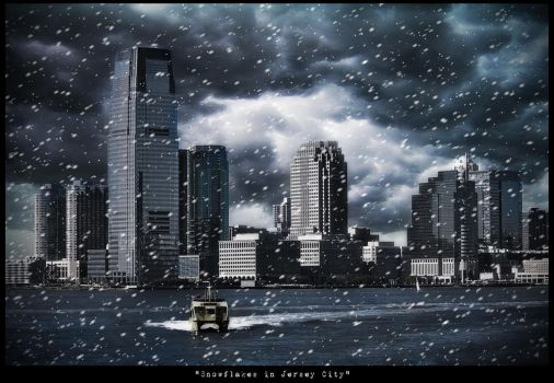 'Snowflakes in Jersey City' by PortraitOfaLife