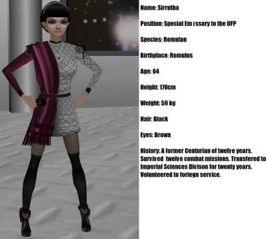 Star Trek Romulan Emissary Sirrutha by Mary-Margret