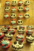 Jack and Sally Cupcakes by AngelHuskune