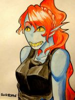 Young Undyne  by darsynd