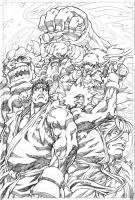 SF4 issue 3 cover pencils by NgBoy