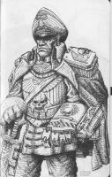 Imperial Guard Lord Commissar by KnightInFlames