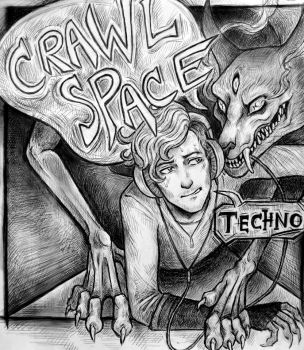 CrawlSpace Techno (outlines) by Silverleopard
