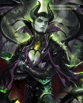 Maleficent by sakimichan