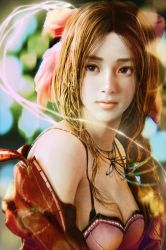 Aerith from Final Fantasy VII by cursedapple