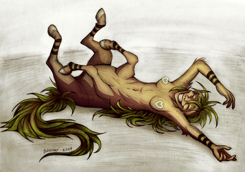 Lying centaur girl by JWiesner