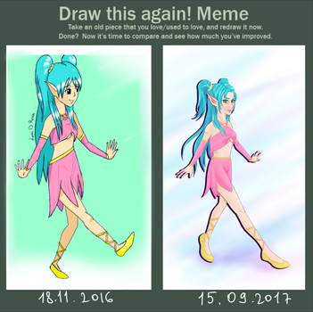 Draw this again! Meme by NikkiReam