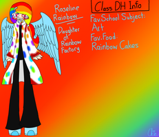 Monster Highschool AU-Roseline Rainbow by HerrenLovesFNAF