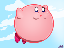 Kirby does a Fly by CrestDraggy